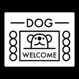 Dog shelter simple vector icon. Black and white illustration of house for Homeless dogs. Solid linear icon. Eps 10 Royalty Free Stock Photo