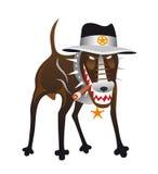 Dog-Sheriff Royalty Free Stock Images