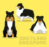 Dog Shetland Sheepdog Cartoon Vector Illustration Stock Photo