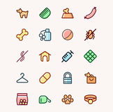 Dog shop. Set of icons for Internet shops for dogs Stock Photos