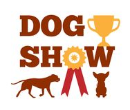 Dog Show Award with Ribbon Canine Animal Design. Dog show award with ribbon and canine animal design advert poster vector illustration isolated on white stock illustration
