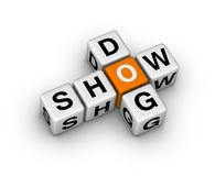 Dog show. Sign (orange-white crossword puzzles series Stock Photography