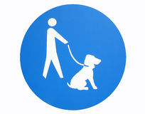 Dog sign. Isolated dog sign close up Stock Photography