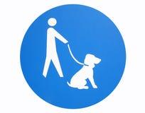 Dog sign. Isolated dog sign close up royalty free illustration