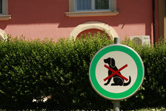 Dog sign stock photo