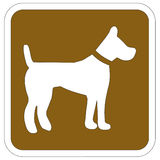 Dog signal Royalty Free Stock Photo