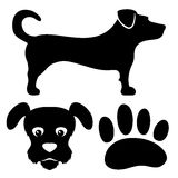 Dog signs. Royalty Free Stock Photo
