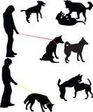 Dog silhouette  Stock Image