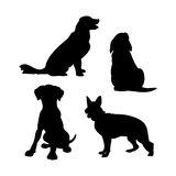 Dog silhouette set vector Stock Photo