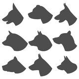 Dog silhouette set Royalty Free Stock Photography