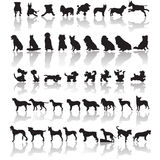 Dog silhouettes Royalty Free Stock Photo