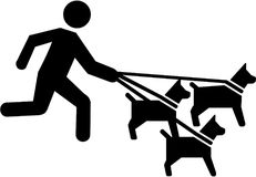 Dog sitter pictogram. Occupation vector Royalty Free Stock Images
