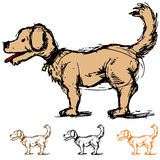 Dog Sketch Stock Images
