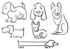 Dog sketch Stock Photos