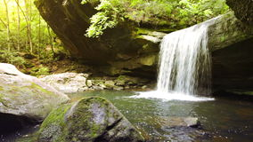 Dog Slaughter Falls. In the Daniel Boone National Forest in Southern Kentucky stock video footage
