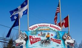 Dog sledding race-Entrance Royalty Free Stock Photos