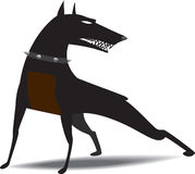 Dog snarled. Dog wearing collar with spikes snarled, ready to attack Royalty Free Illustration