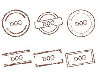 Dog stamps Stock Image