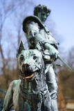 Dog statue from the castle, Stock Image