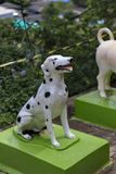 Dog statue in the garden. Dog statue in the garden stock photography