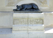 Dog statue in Gettysburg Pennsylvania Royalty Free Stock Images
