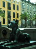 Dog statue historic Vegueta park Grand Canary Island Spain Stock Photography