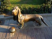 Dog statue in Kostroma. Stock Photo