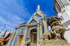 Dog statue. Thai statue in the temple of the Emerald Buddha stock photos