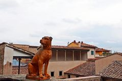 Dog statue in Villa Bardini, Florence Stock Images