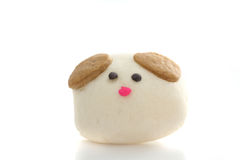 Dog Steamed Dumpling in white background Royalty Free Stock Image