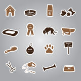Dog stickers set eps10. Various dog stickers set eps10 Royalty Free Stock Images