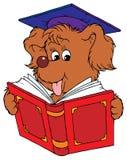 Dog Student vector illustration