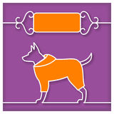 Dog Studio Sign with text place Royalty Free Stock Photos