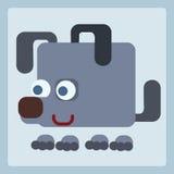 Dog stylized icon symbol. Good dog stylized children book icon symbol illustration Royalty Free Stock Image