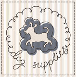 Dog supplies label. Dog supplies calligraphic handwritten label Royalty Free Stock Image