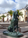 Dog symbol of Canary Islands Royalty Free Stock Images