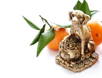 Dog symbol of the new year. Dog symbol of the eastern new year stock image