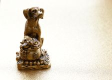 Dog symbol of the new year. Dog symbol of the eastern new year royalty free stock image