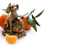 Dog symbol of the new year. Dog symbol of the eastern new year stock photos