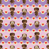 Dog symmetry style seamless pattern Royalty Free Stock Photo