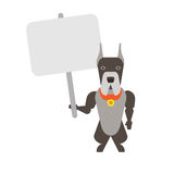 Dog with tablet Royalty Free Stock Image