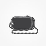Dog tag chain. Detailed elements. Isolated object. Stock Images