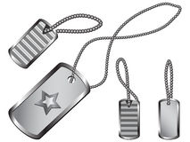 Dog Tag Set Stock Image