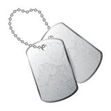 Dog tag. S isolated on white background Stock Photos