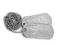 DOG TAGS Stock Images