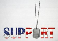 Dog tags with American flag text Royalty Free Stock Photos