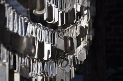Dog tags for fallen soldiers Stock Photo