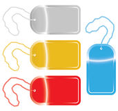 Dog tags in four colors. Vector illustration of dog tags in four different colors Royalty Free Stock Photo