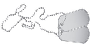 Dog Tags. A set of military dog tags with chain royalty free illustration