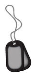 Dog tags  on white background - vector illustration Royalty Free Stock Photos